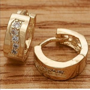Beautiful Gold Huggie Hoop Earrings